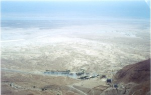 looking across the Negev towards the Dead Sea from Masada