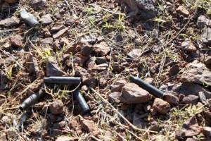 shell casings left by hunters in Tumacácori, February 2010 - Rebekah Zemansky