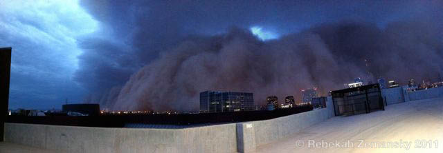 haboob in downtown Phoenix – 5 July 2011