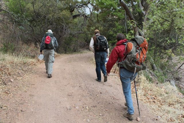 hiking with Samaritan humanitarian volunteers