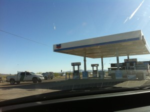 Border Patrol vehicles get gas at Three Point, Arizona's Robles Junction