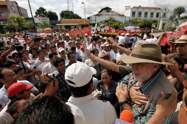 Javier Sicilia in Mapastepec, Mexico, on Sept. 14