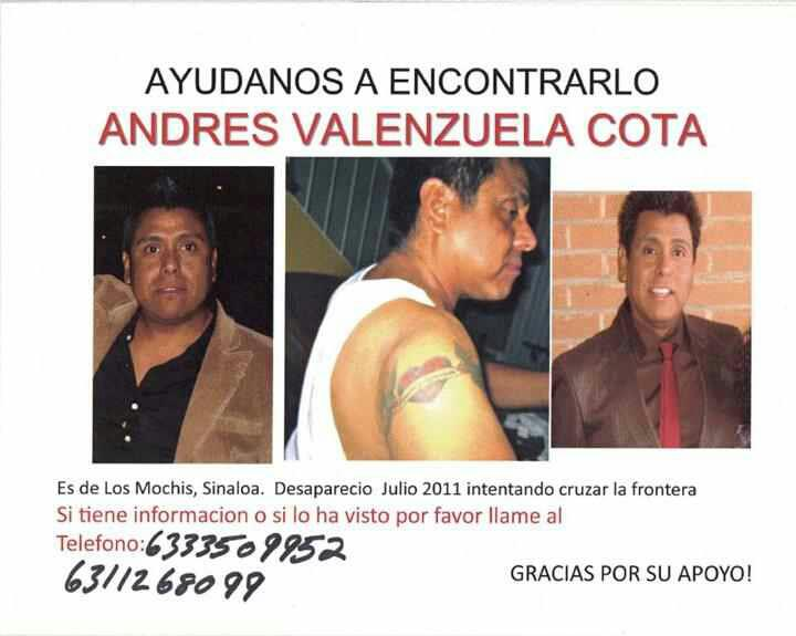 andres missing poster