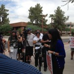 ACLU Arizona Immigrants Rights Project Coordinator Dulce Juarez at an immigration rally. - 19 August 2013