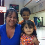 Sandra Figueroa, Katherine's mother, attends a community meeting at Creighton Elementary. - 12 September 2012