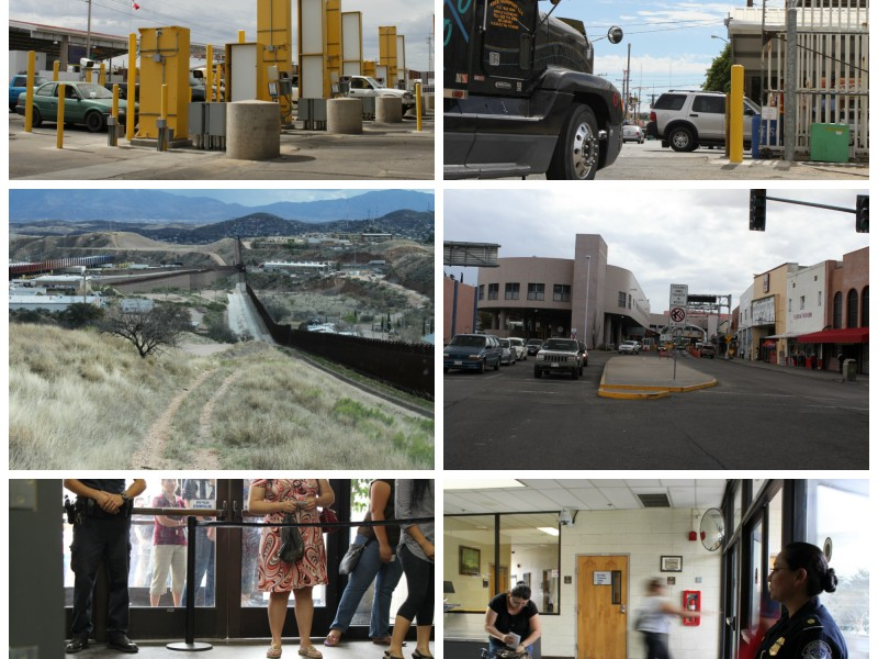 Commercial and pedestian ports of entry at San Luis and Nogales, Arizona